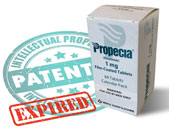 box of propecia on expired patent sign