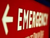 Photo of emergency sign in hospital