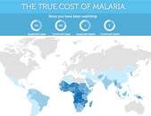 map of malaria cases