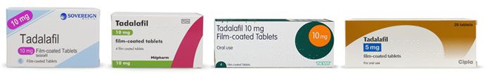 Brands of tadalafil