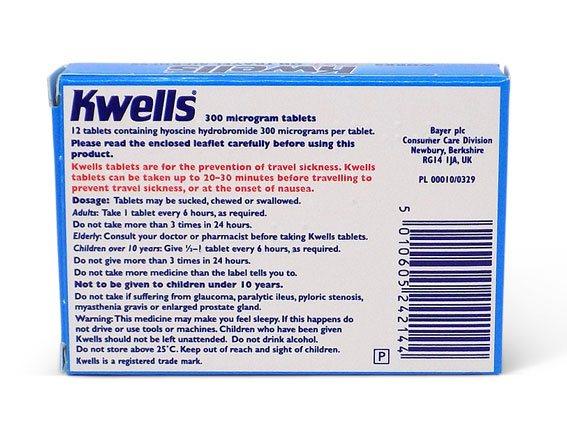 Kwells Travel Sickness Tablets Uk