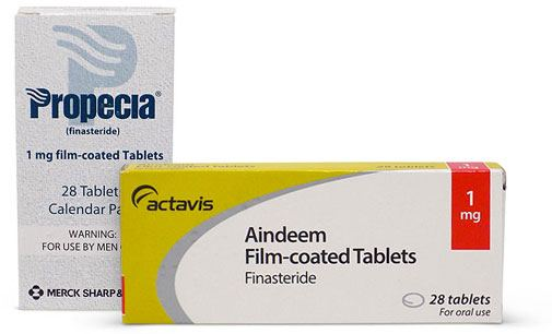 Photo of Propecia and finasteride 1mg medicine boxes