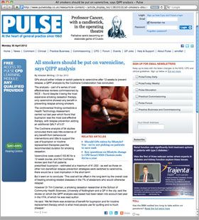 Screenshot of Pulse website