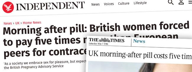 morning after pill prices headlines