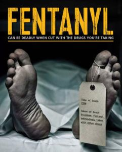 fentanyl deaths warning poster