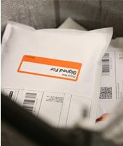 parcels waiting for despatch from mail order pharmacy