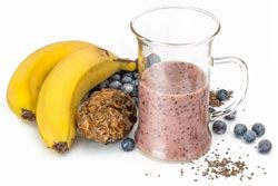 Bananas, but, and honey smoothie as a hangover cure