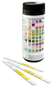 Photo of urine dipstick test kit