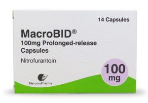 Macrobid nitrofurantoin medicine pack photo