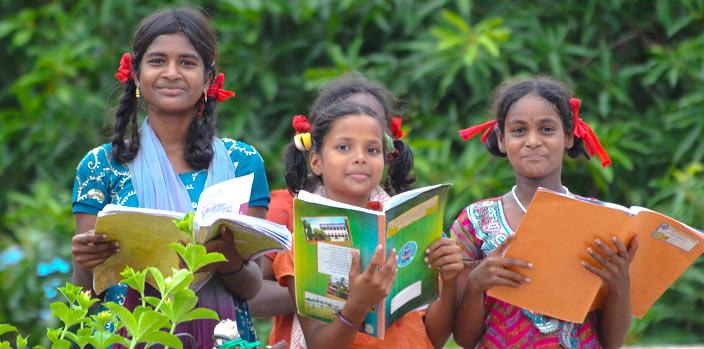 Indian girls at Orphanage